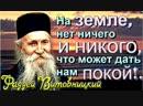 Только Господь даёт мир всякому творению - Фаддей Витовницкий.