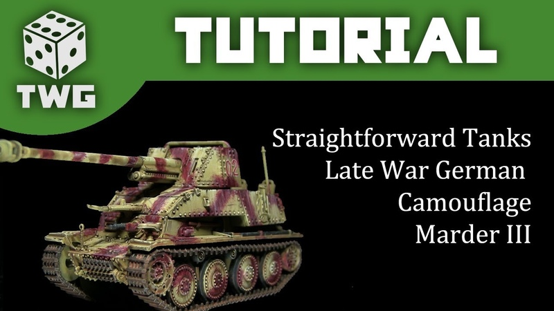 Bolt Action Tutorial: How To Paint WW2 Late War German Tanks - Marder III