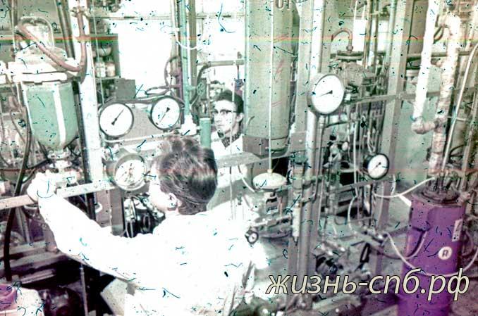 Латвийская ССР. г. Рига. В лаборатории института органического ситеза Академии наук Латвии.
