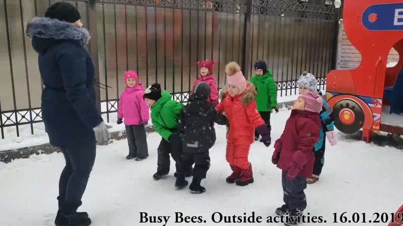 Busy Bees. Outside Activities. Penguin dance