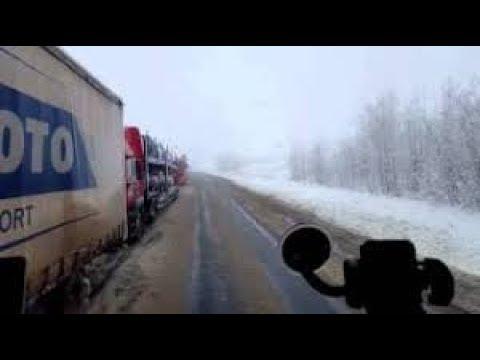 Зимний дальнобой Экстремальные ситуации и трудности на дороге часть 6