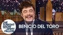 Benicio Del Toro Reacts to Guardians of the Galaxy Fans Riding Him at Disneyland