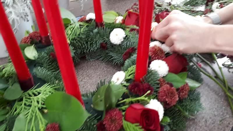 Создание Рождественского венка. Базовый курс флористики в Redmakstudia
