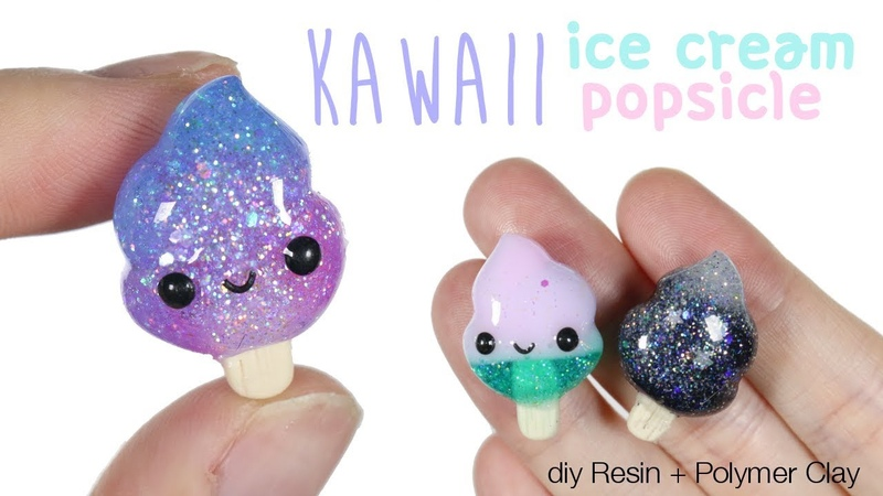 How to DIY Kawaii Ice cream Swirl Popsicle Polymer Clay/Resin Tutorial