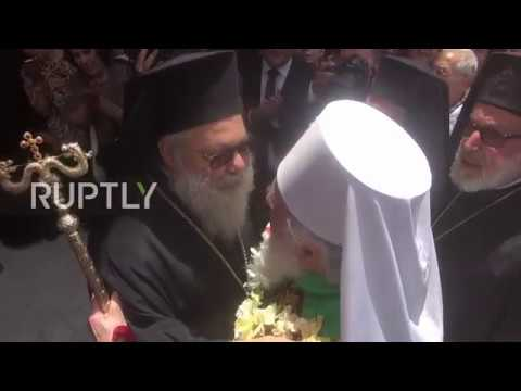Syria Serbian Patriarch Irenaeus arrives in Damascus for week long pilgrimage