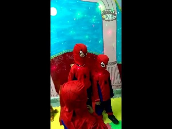 Spiderman in Bragnam Play school Ghaziabad