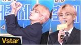 생일 맞은 방탄소년단(BTS) 뷔가 아미에게 보내는 하트 @ 2018 KBS 가요대축제