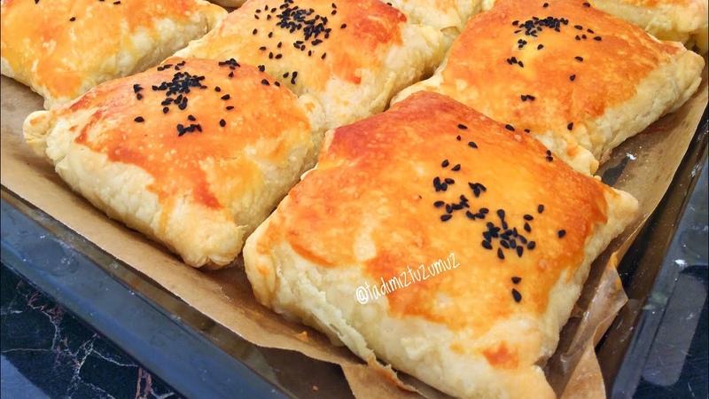 Турецкие бёреки с сыром (творогом), перцем, помидорами, зеленью Bohça Börek Tarifi İster Kıymalı İster Peynirli Bu Böreğe Hayran Kalacaksınız | tadımıztuzumuz