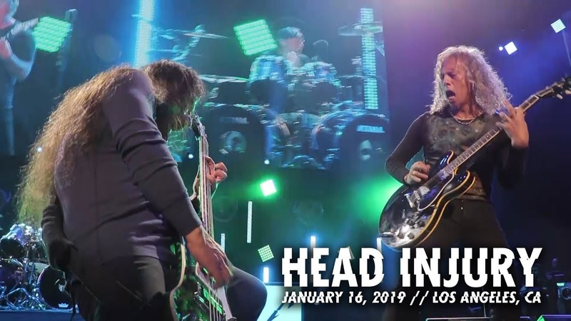 Metallica Head Injury Los Angeles CA January 16 2019