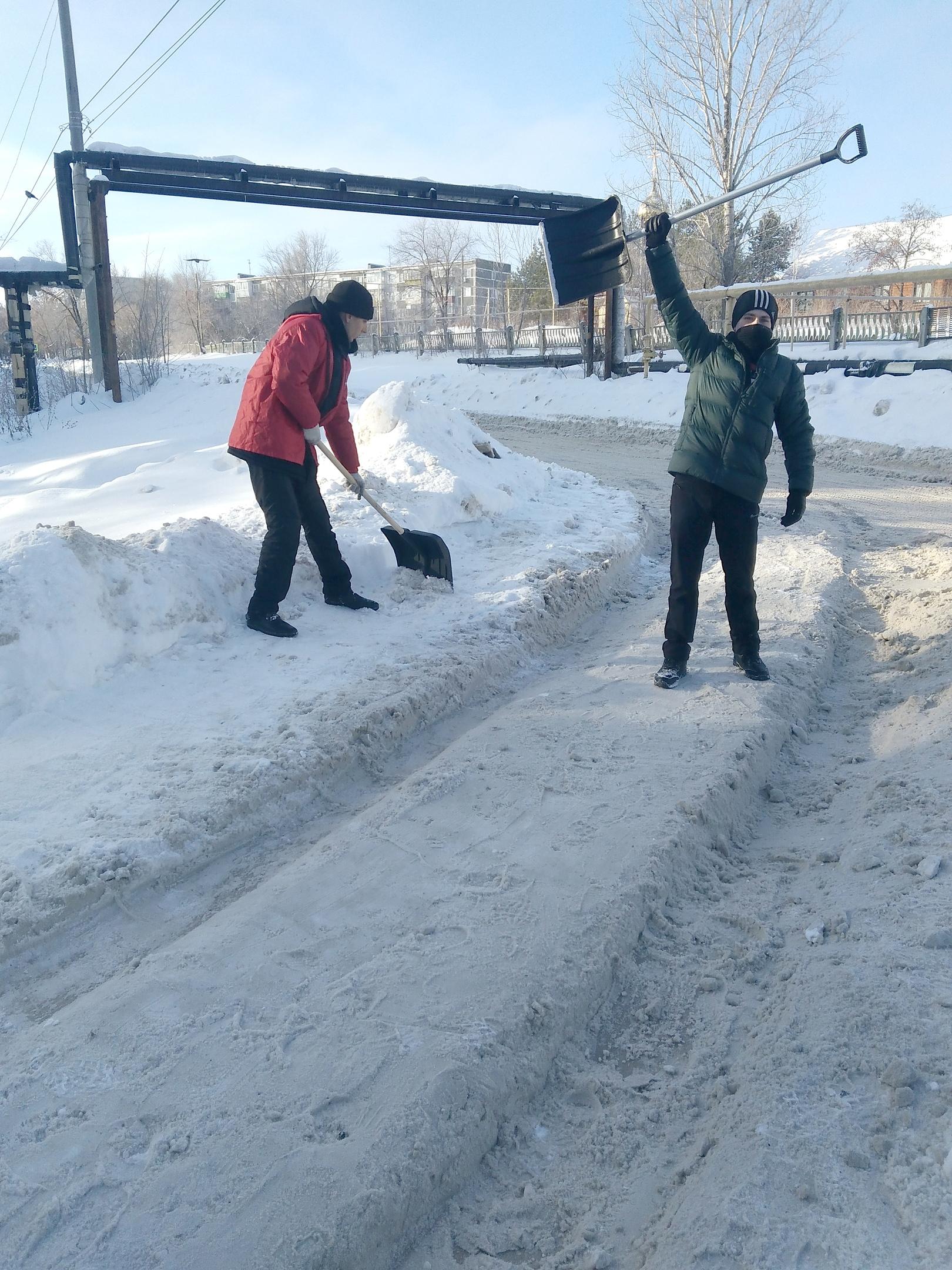 Сызрань завалена снегом