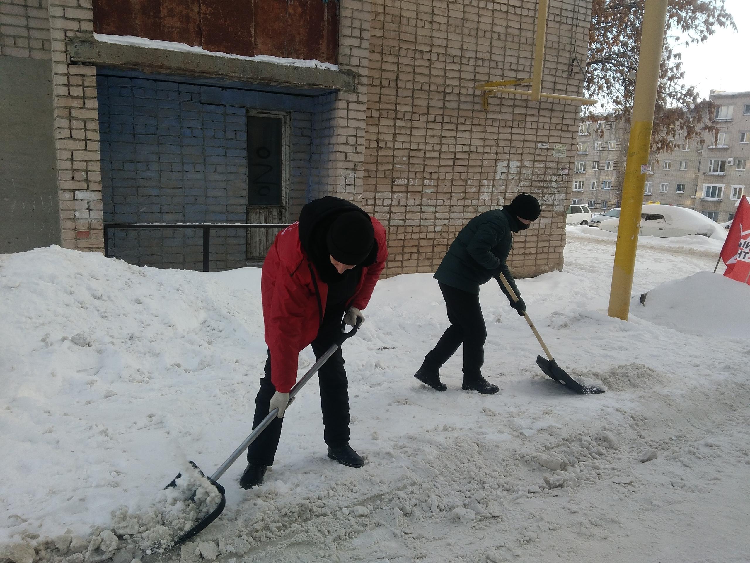 В Сызрани почистили дворы