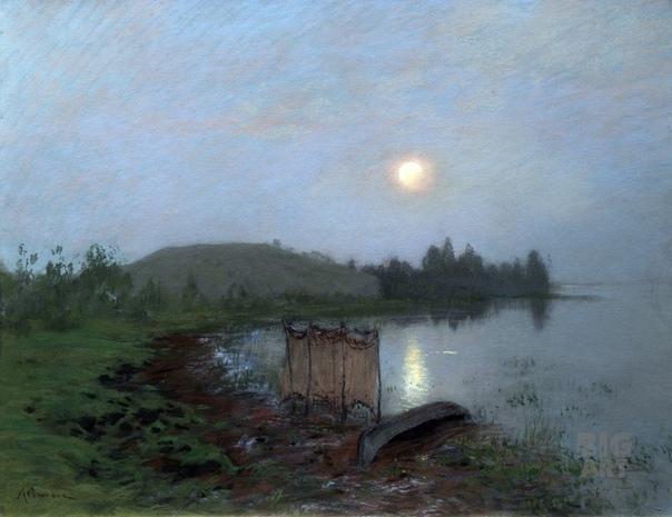 Исаак Левитан На озере, сумерки.1893
