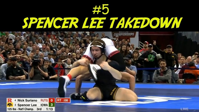 Best Scrambles From 2018 NCAA Finals - 5 Spencer Lee Takedown