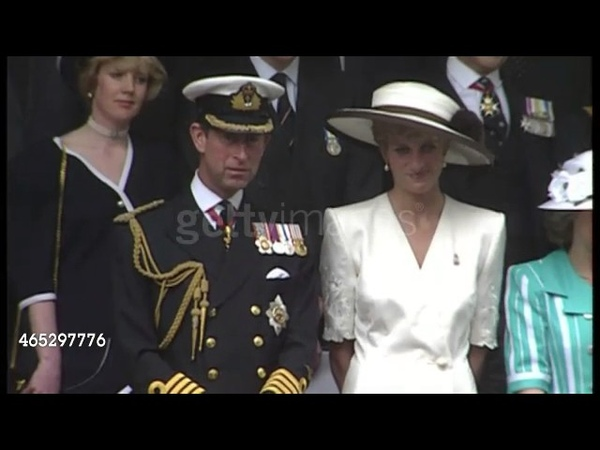 June 21, 1991 Princess Diana Watching the Gulf Homecoming Parade in London, dressed in white