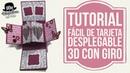 Tutorial fácil Tarjeta desplegable pop up con giro twist pop card