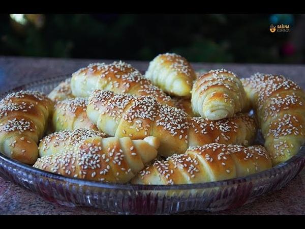 Mekane kiflice sa sezamom - Sašina kuhinja