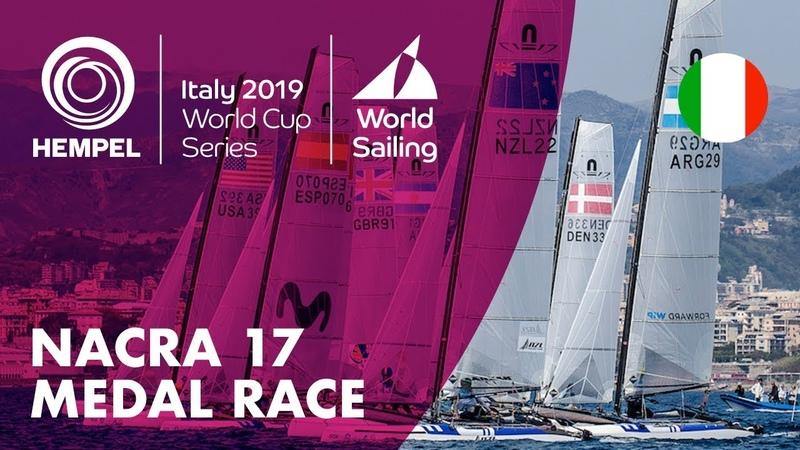 Nacra 17 Medal Race   Hempel World Cup Series Genoa 2019