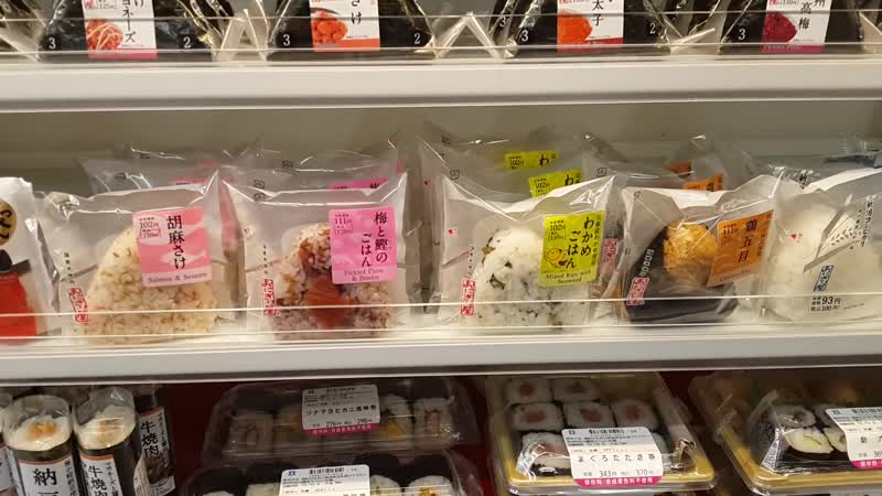 Готовая еда в магазинах в японии! Очень свежее все!