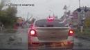 Passing Train Takes Down Power Lines || ViralHog
