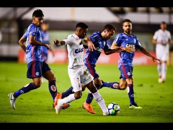 Santos 1 x 1 Flamengo - Brasileirão 2018 - Melhores momentos (HD)