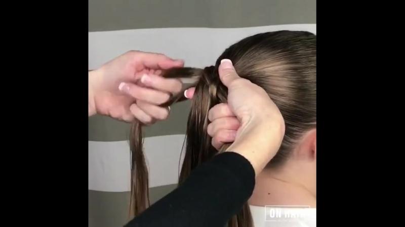 Схема плетения квадратной косы mp4