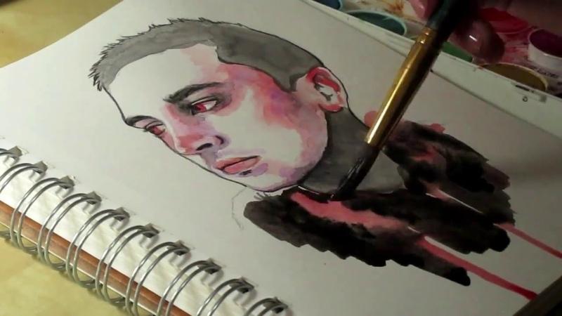 Tyler Joseph Watercolor speed painting