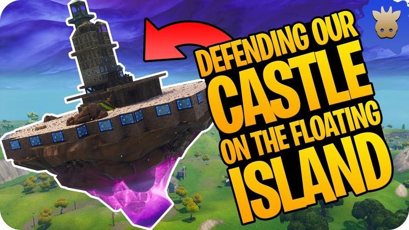 FORTNITE FLOATING ISLAND, IMPOSSIBLE Castle Defense! | Fortnite Battle Royale