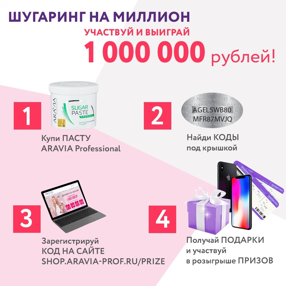 shop.aravia-prof.ru/prize регистрация промо кода в 2019 году