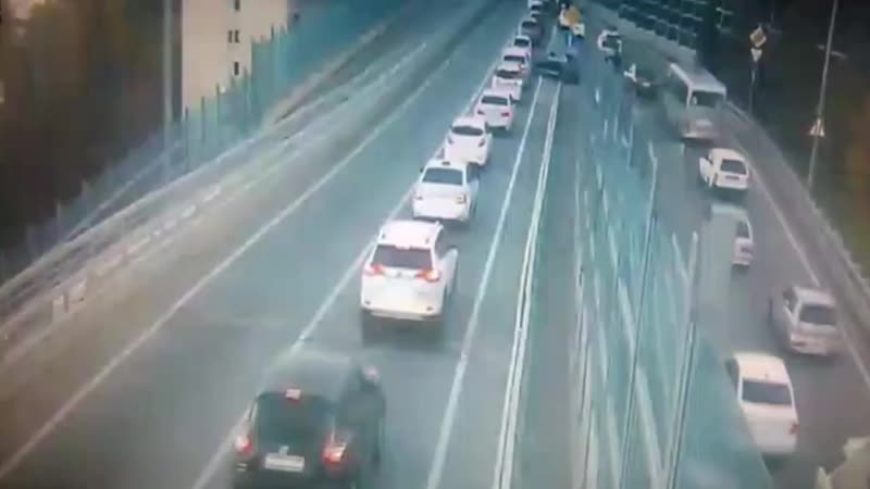 ДТП на развязке в сторону Мамайки, Сочи, 16 октября