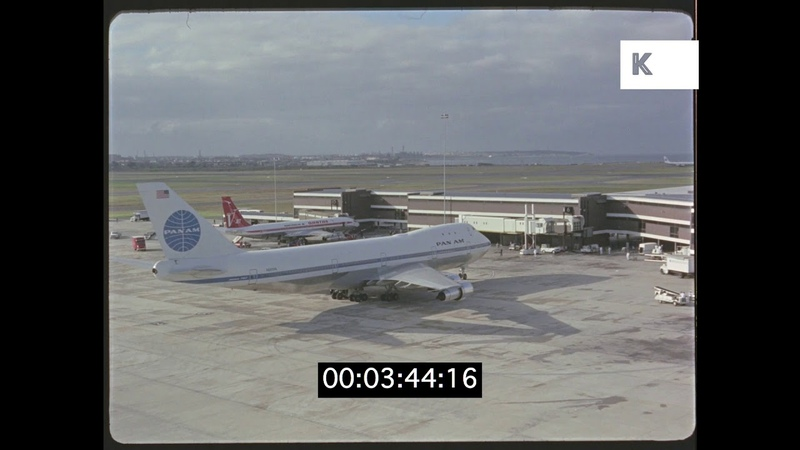 Pan Am Plane at Sydney Airport, 1960s, 35mm