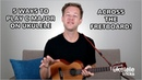 5 Different Ways to Play a C Major Chord Across the Ukulele Fretboard