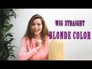 Human hair wigs - straight blonde color from MCSARA