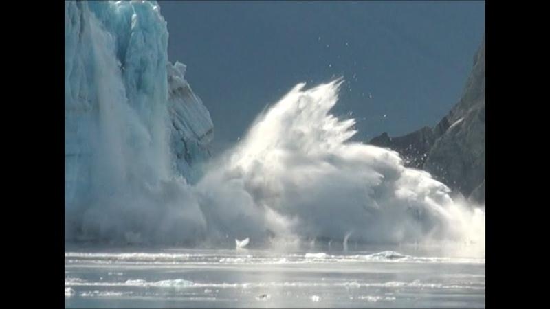 Extreme Glacier Calving, Hubbard Glacier, Alaska