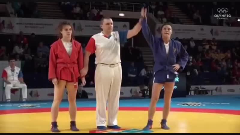Чемпионка мира по самбо Яна Костенко. Лучшие моменты финала!
