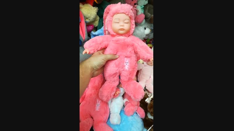 Спящий малыш в костюме зайца!