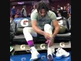 Деррик Роуз готовится к игре с Philadelphia 76ers 15.01.2019 (Derrick Rose)