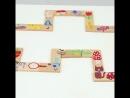 28pcs / set Деревянные домино Блоки игры Мультфильм животных Мультфильм Деревянный шаблон Tangram Монтессори Детские развивающие