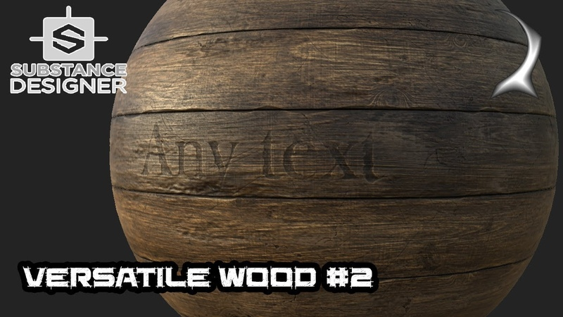 Versatile wood generator tutorial - part 2 (text and picture cut-in) [Substance Designer]
