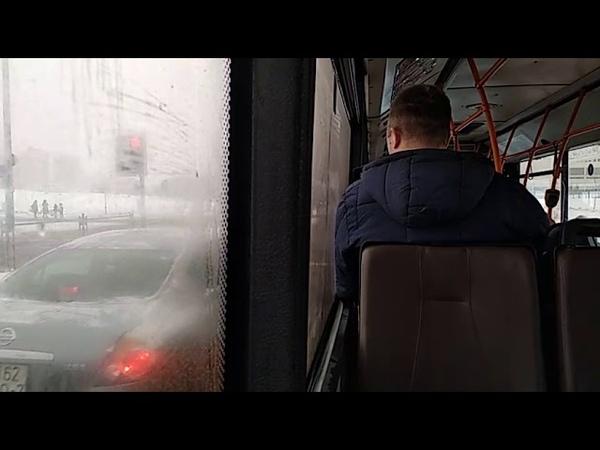 Автобус Минска МАЗ-203,гос.№ АЕ 3820-7, марш.8 (03.01.2019)