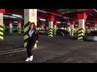 REGGAETON freestyle on parking by Olya BamBitta// J Molina - dale pa atras