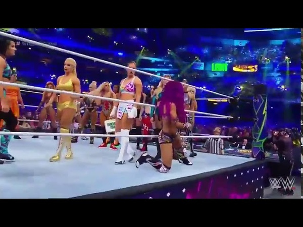 Wrestlemania 34 First ever 20 women battle royal full matcg