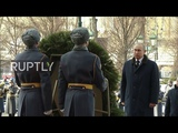Russia Putin marks Defender of the Fatherland Day at Tomb of Unknown Soldier