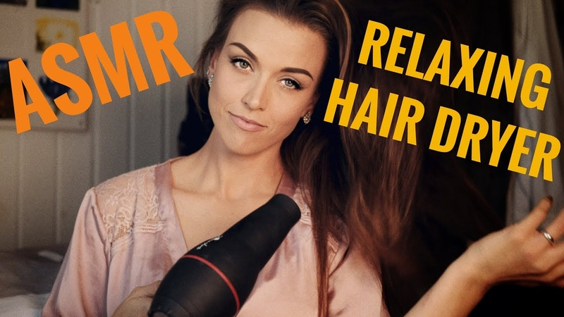 ASMR Gina Carla 👩🏽 Blown by a HairDryer! Relaxing Hair Drying Noise! Hair Brushing!