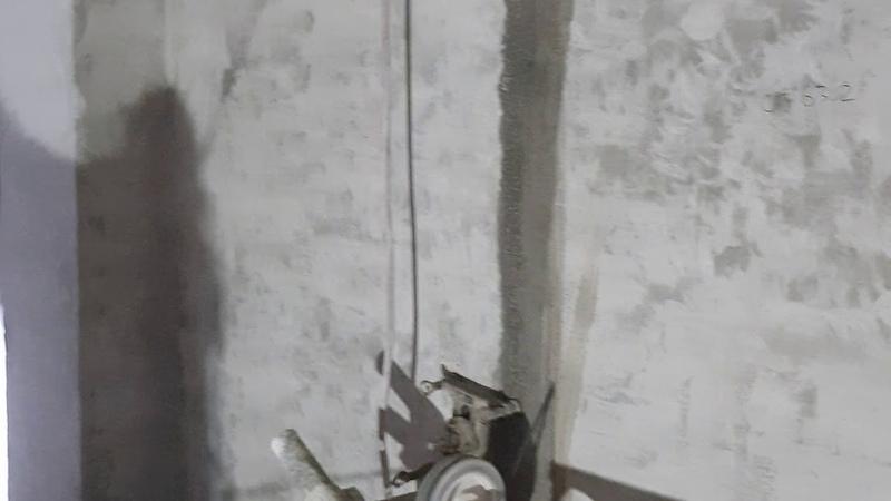 Резка проёма в ж/б стене алмазным канатом