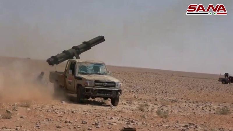 اИз свободных от армии районов Рашванита ,Найрима и Наиры в глубине сирийской пустыни (Аль-Бадия)остались остатки ДАИШ