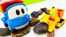 Игры для малышей Грузовичок Лева собираем рабочие машинки