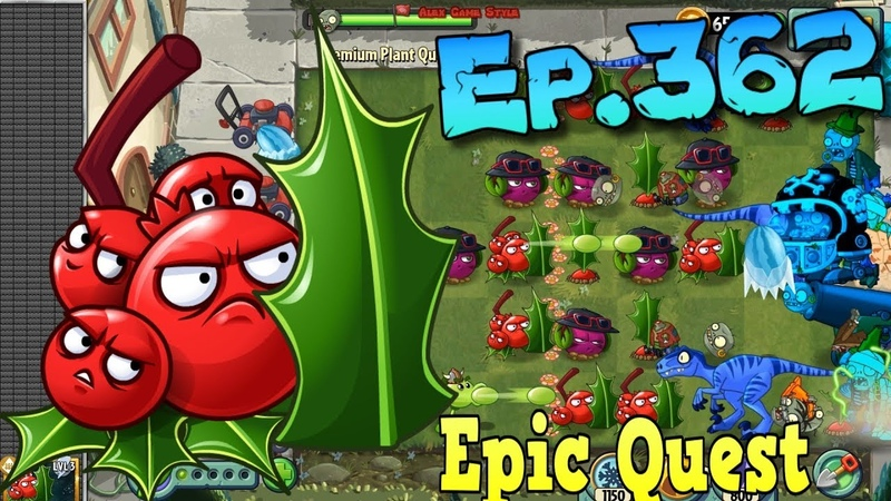 Plants vs. Zombies 2 - HOLLY BARRIER - Epic Quest Premium Seeds (Ep.362)