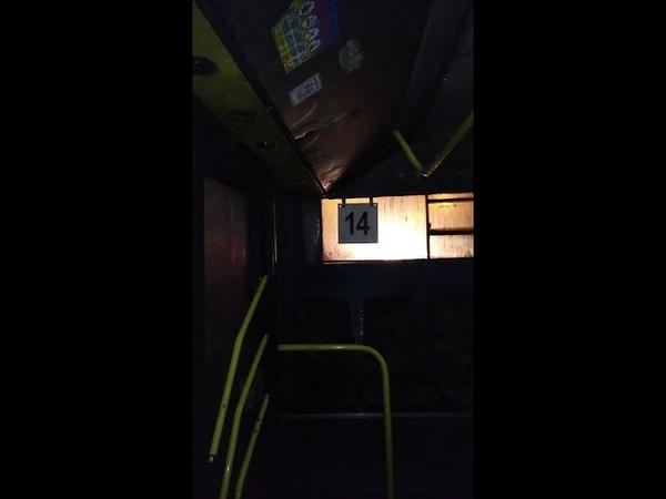 В Запорожье течёт крыша у троллейбуса