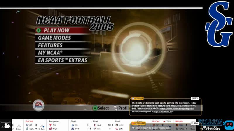SPORTS GOOFS ELGATO TEST STREAM NBA NHL NHL MLB WWE FIFA NFL NCAA