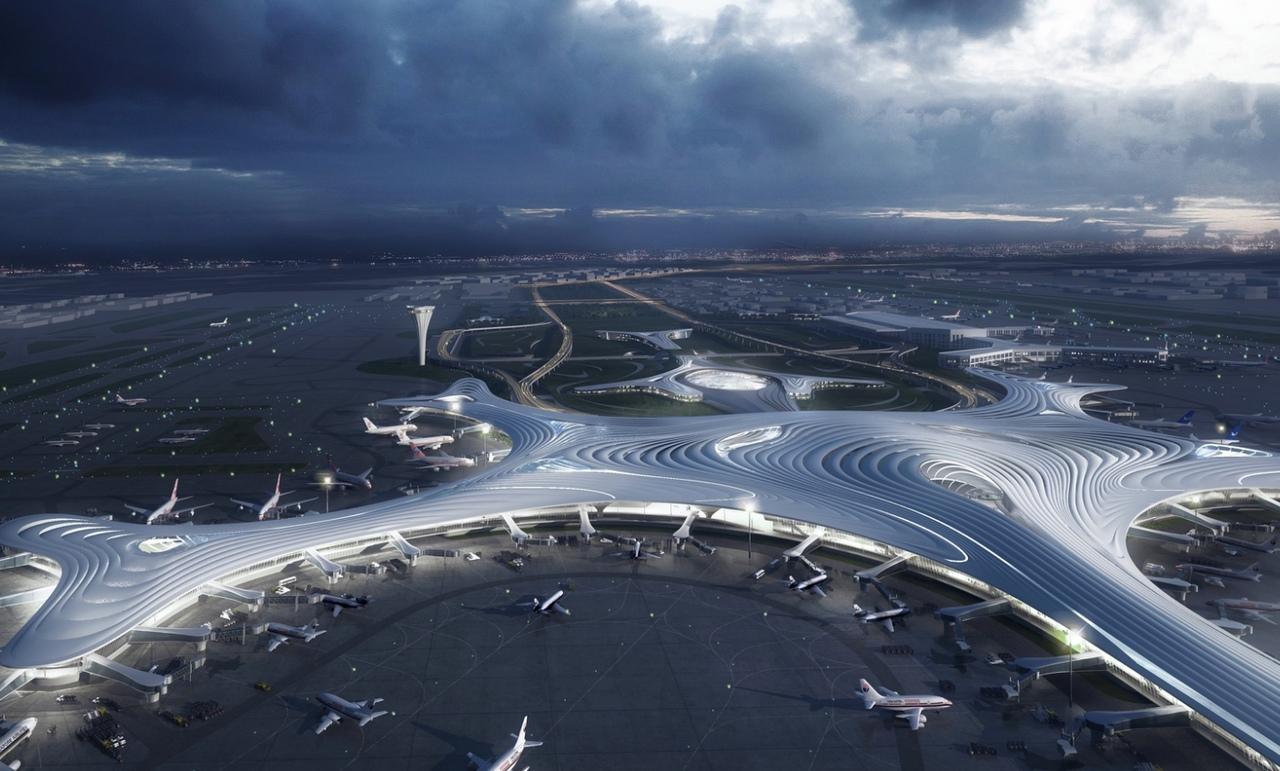 Футуристический внешний вид терминала